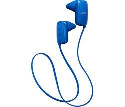 JVC HA-F250BT-AE Wireless Bluetooth Headphones - Blue