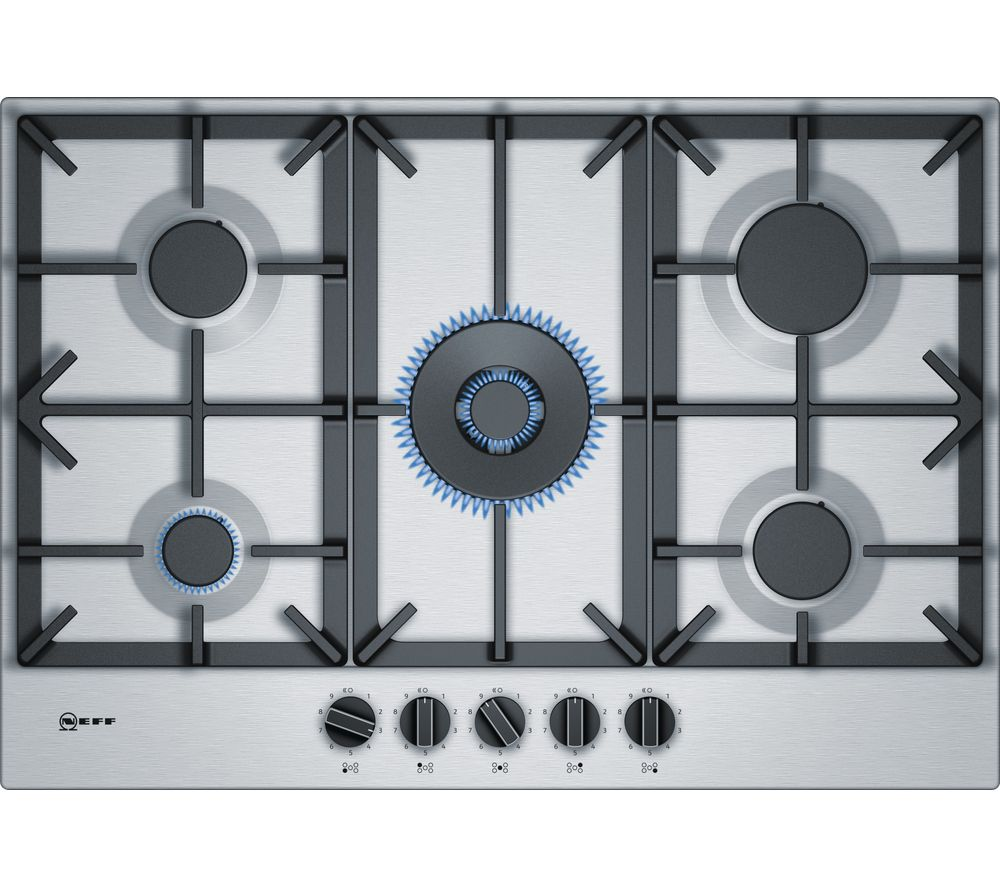 buy neff t27ds59n0 gas hob stainless steel free delivery currys. Black Bedroom Furniture Sets. Home Design Ideas