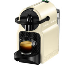 NESPRESSO by Magimix Inissia 11361 Coffee Machine with Aeroccino - Vanilla Cream