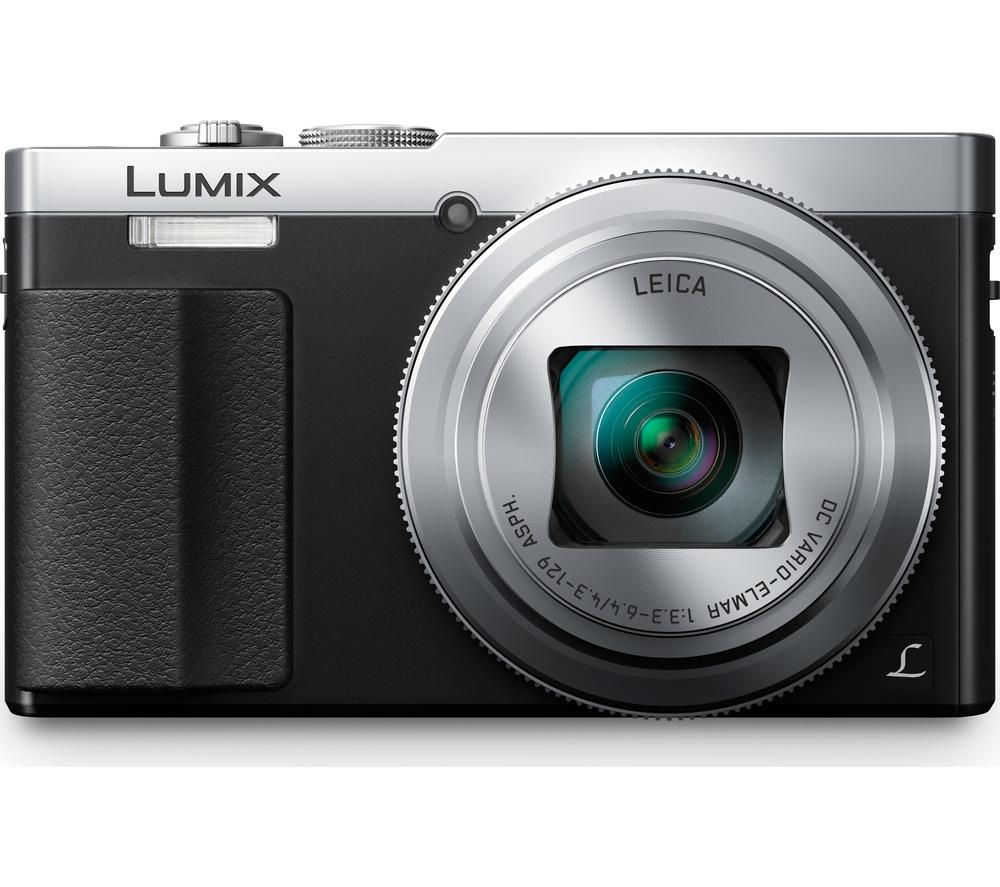 PANASONIC  Lumix DMC-TZ70EB-S Superzoom Compact Camera - Silver +  Camera Case - Black