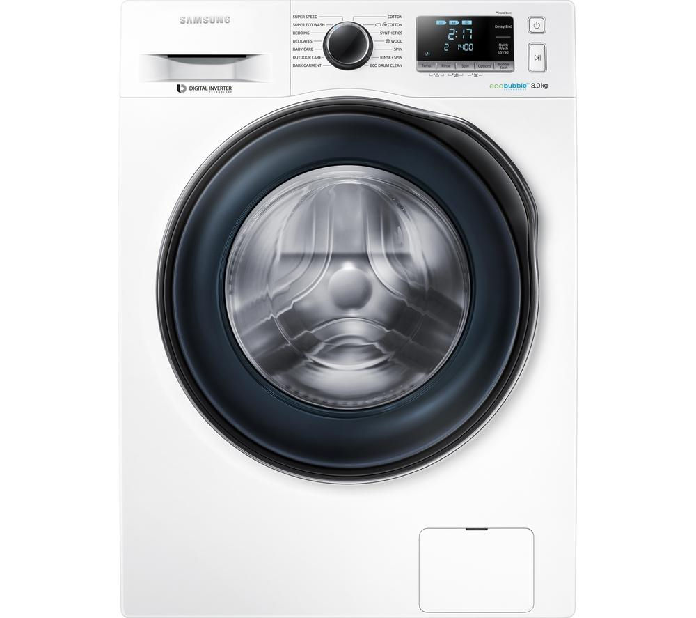 SAMSUNG ecobubble WW80J6410CW Washing Machine - White