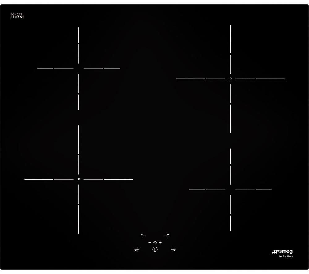 SMEG  SI5641D Electric Induction Hob - Black +  Linea SFP109 Electric Oven - Stainless Steel