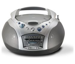 ROBERTS Swallow CD9959 Boombox - Grey & Silver