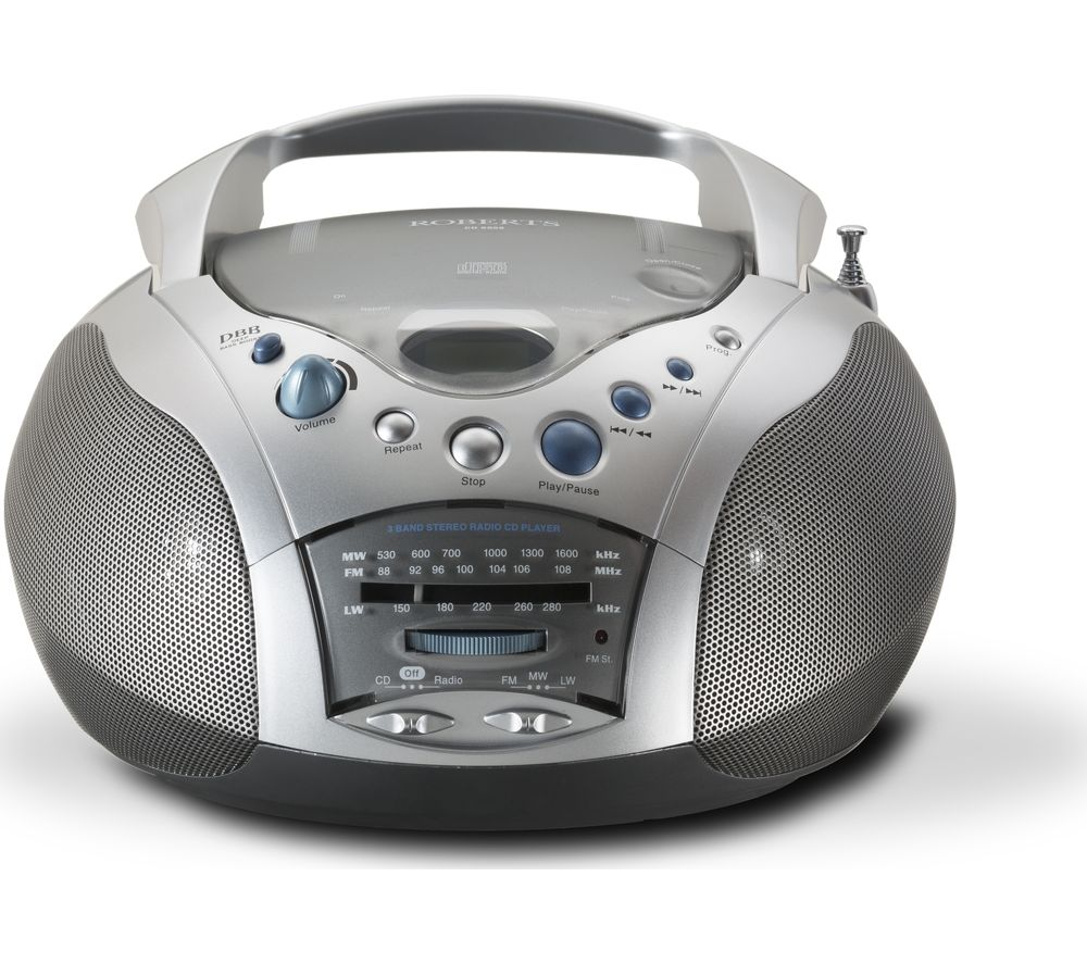 ROBERTS  Swallow CD9959 Boombox - Grey & Silver, Grey.