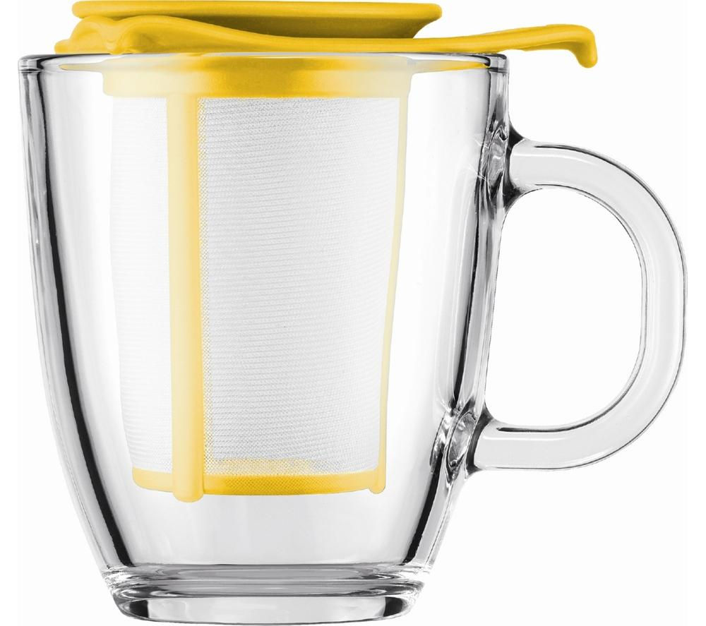 BODUM  Yo Yo Mug & Tea Strainer Set  Yellow Yellow