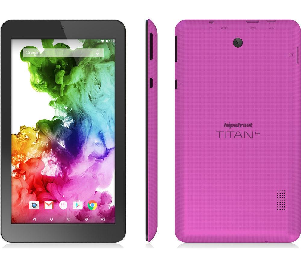 "Hipstreet Titan 4 7"" Tablet - 8 GB, Purple, Pink"