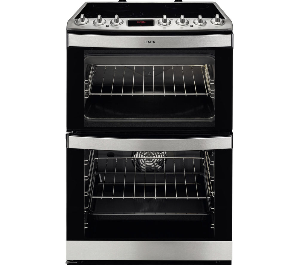 Image of AEG 43102V-MN 60 cm Electric Ceramic Cooker - Stainless Steel, Stainless Steel