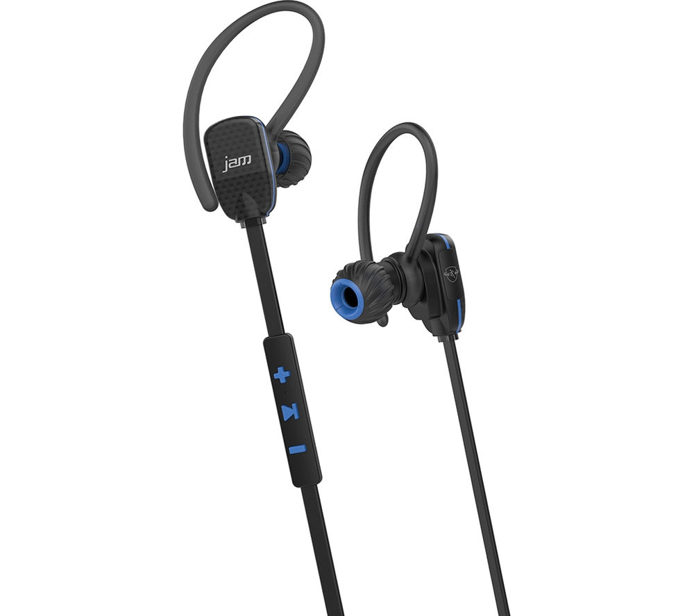 JAM Transit Micro Sports Wireless Bluetooth Headphones - Black & Blue
