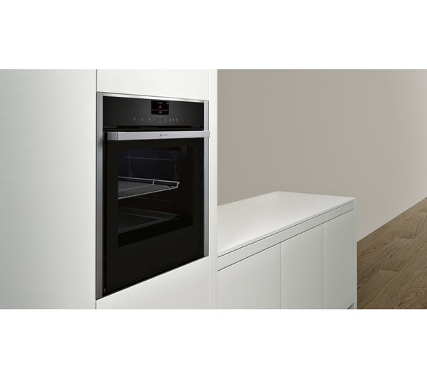 buy neff b57vs24n0b slide hide electric oven stainless steel free delivery currys. Black Bedroom Furniture Sets. Home Design Ideas