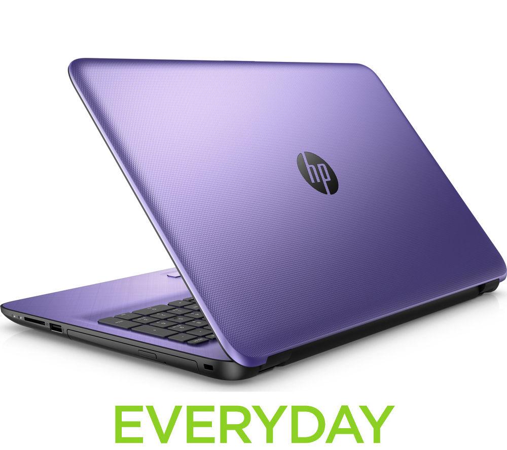 """Image of HP 15-af152sa 15.6"""" Laptop - Purple, Purple"""