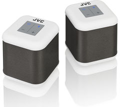 JVC SP-AT3-W Portable Wireless Speakers - Set of 2, White