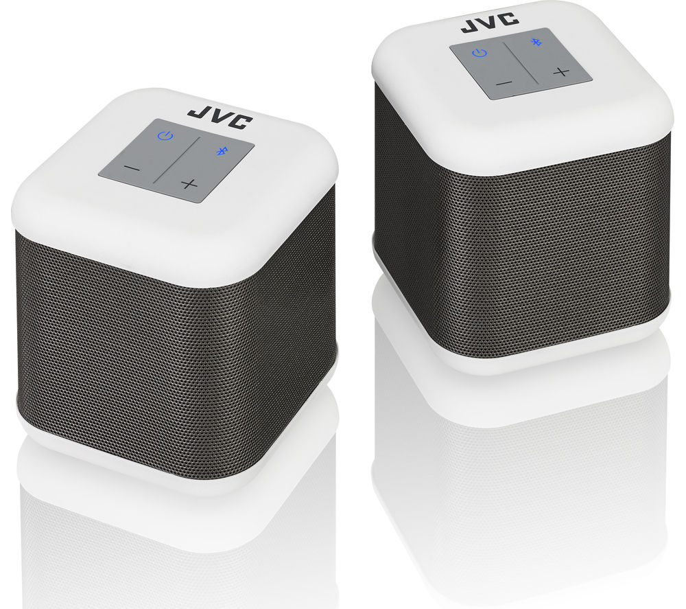 Click to view more of JVC  SP-AT3-W Portable Wireless Speakers - White, White