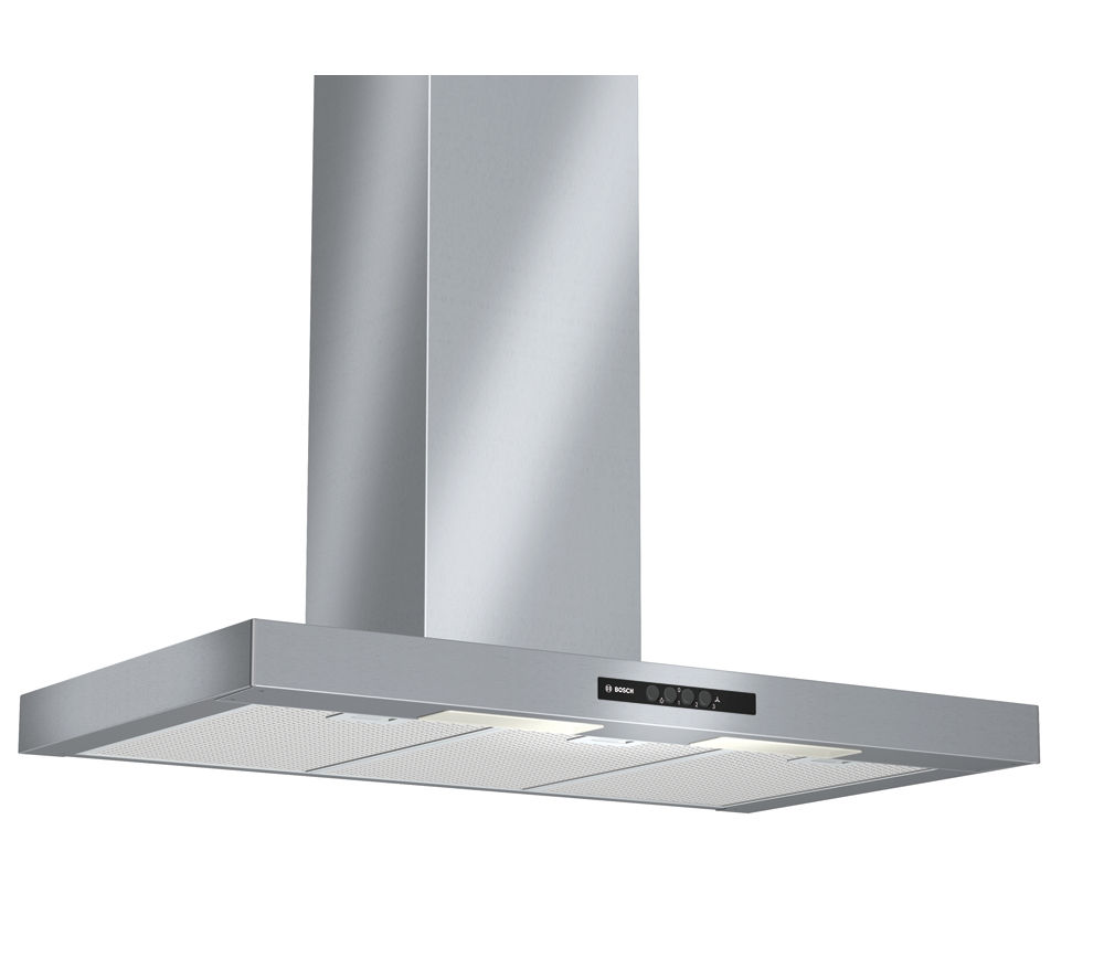 Buy bosch dwb09w452b chimney cooker hood stainless steel - Campana extractora 80 cm ...