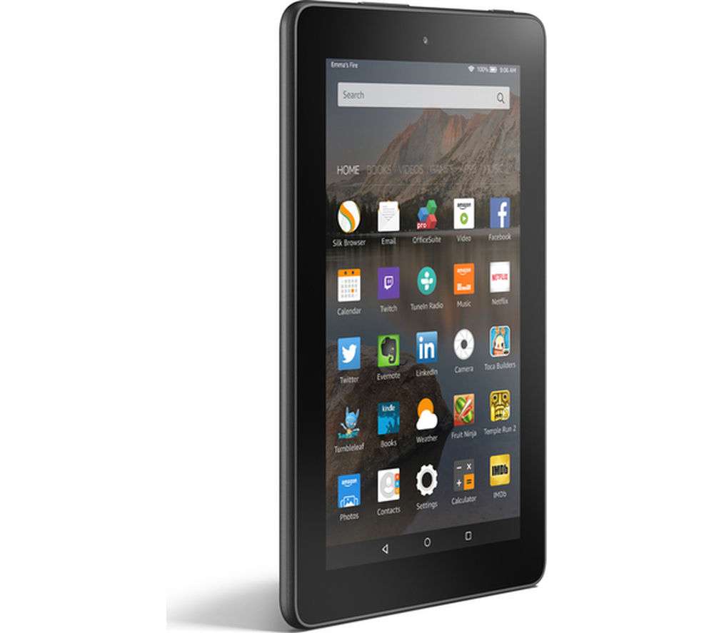 Image of Amazon Fire 7 Tablet - 16 GB, Black, Black
