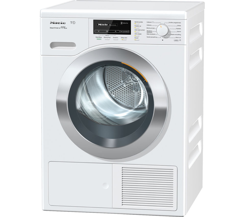 buy miele tkg840 wp heat pump tumble dryer white free. Black Bedroom Furniture Sets. Home Design Ideas