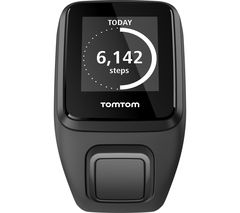TOMTOM Spark 3 Cardio GPS Fitness Watch - Black, Large