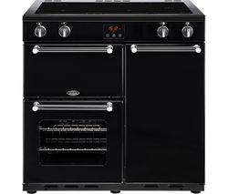BELLING Kensington 90 cm Electric Induction Range Cooker - Black & Chrome