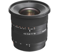 SONY DT 11-18 mm f/4.5-5.6 Wide-angle Zoom Lens