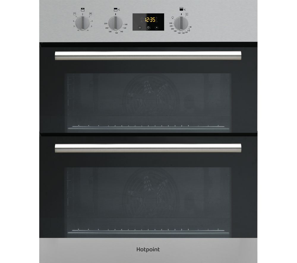 buy hotpoint class 2 dd2 540 ix electric double oven stainless steel free delivery currys. Black Bedroom Furniture Sets. Home Design Ideas