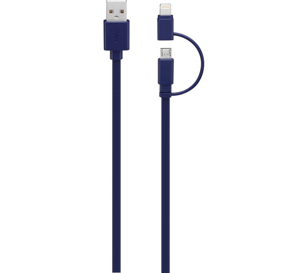 IWANTIT USB to Micro USB Cable with Lightning Adapter - 1 m