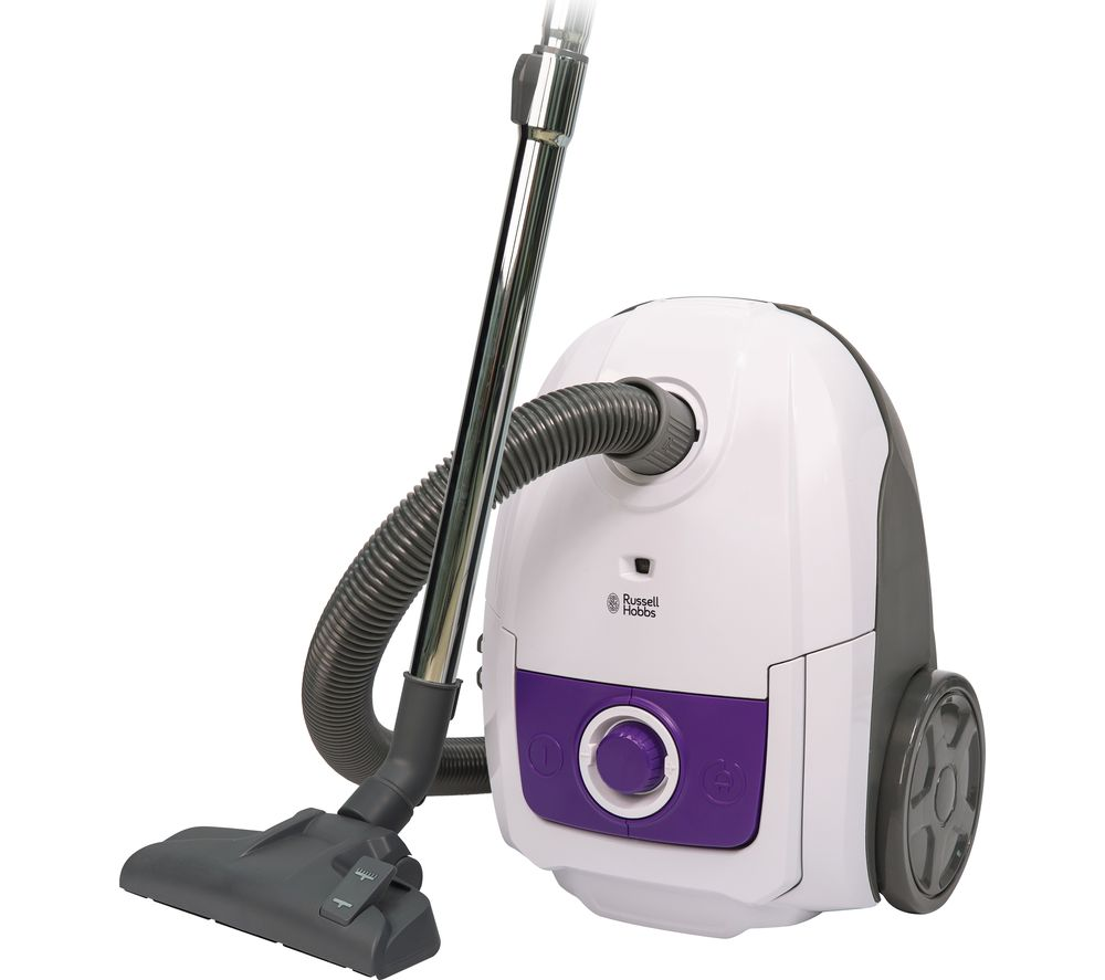 RUSSELL HOBBS RHBCV2502 Cylinder Vacuum Cleaner  White & Purple White