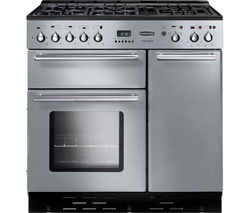 RANGEMASTER Toledo 90 Gas Range Cooker - Stainless Steel & Chrome