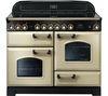 RANGEMASTER Classic Deluxe 110 Electric Ceramic Range Cooker - Cream & Brass