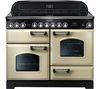 RANGEMASTER Classic Deluxe 110 Electric Ceramic Range Cooker - Cream & Chrome