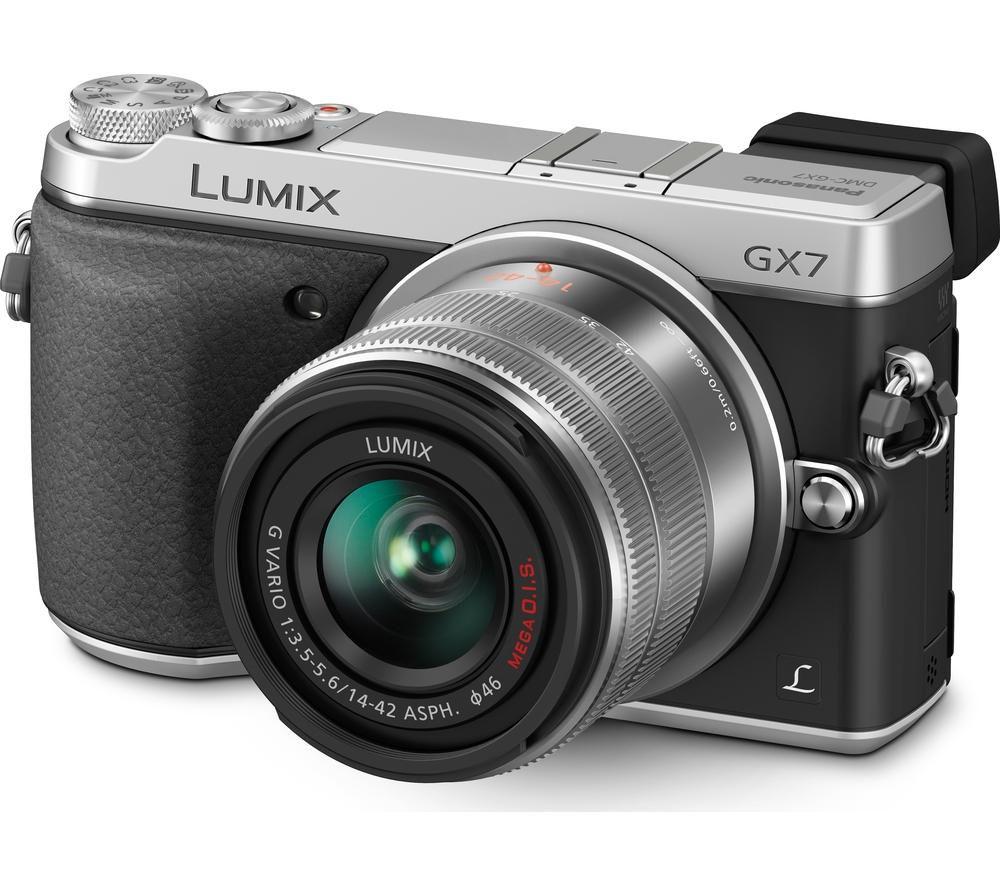 PANASONIC Lumix DMC-GX7KEB-S Compact System Camera with 14-42 mm f/3.5-5.6 Zoom Lens - Silver