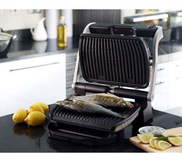 buy tefal optigrill gc701d40 health grill stainless steel black free delivery currys. Black Bedroom Furniture Sets. Home Design Ideas