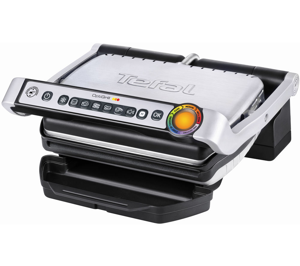Buy tefal optigrill gc701d40 health grill stainless steel black free delivery currys - Barbecue tefal easy grill ...