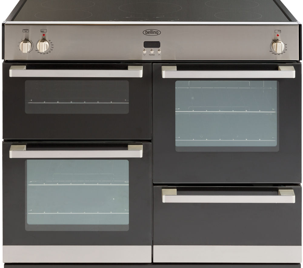 BELLING DB4 100Ei Electric Induction Range Cooker - Stainless Steel