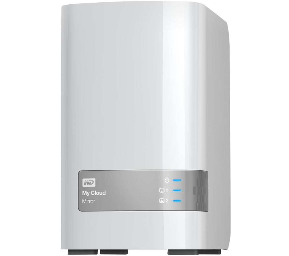 WD My Cloud Mirror Personal Cloud Storage, 4TB Dual Bay NAS