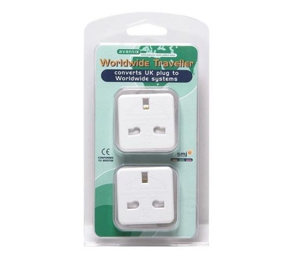 AVANTIX Worldwide Travel Plug Adaptor - Twin Pack