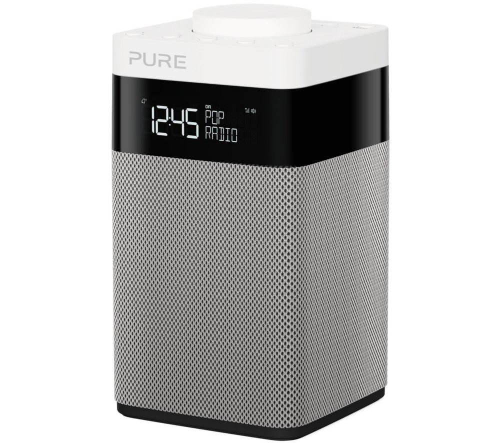 Click to view more of PURE  Pop Midi Portable DAB Clock Radio - Black & White, Black
