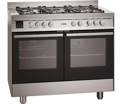 AEG 49190GO-MN 100 Dual Fuel Range Cooker - Stainless Steel