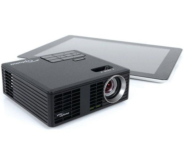 Optoma ml750e short throw portable projector deals pc world for Best portable projector for ipad