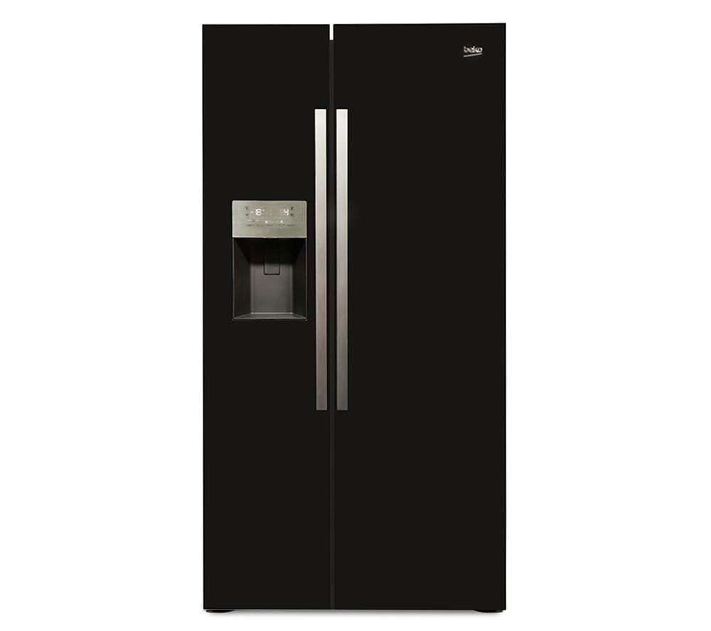 beko asp341b american style fridge freezer black. Black Bedroom Furniture Sets. Home Design Ideas
