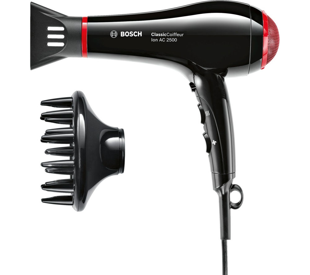 BOSCH  ClassicCoiffeur Hair Dryer  Black & Red Black