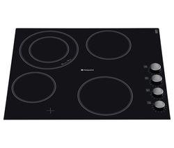 HOTPOINT CRM641DC Electric Ceramic Hob - Black