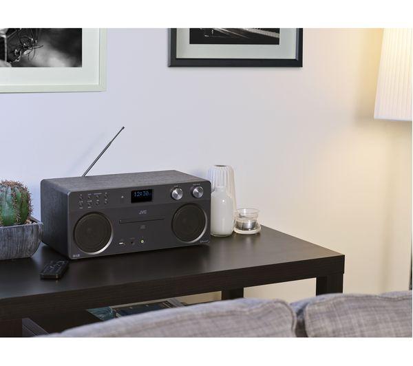 jvc rd d90 wireless hi fi system black deals pc world. Black Bedroom Furniture Sets. Home Design Ideas