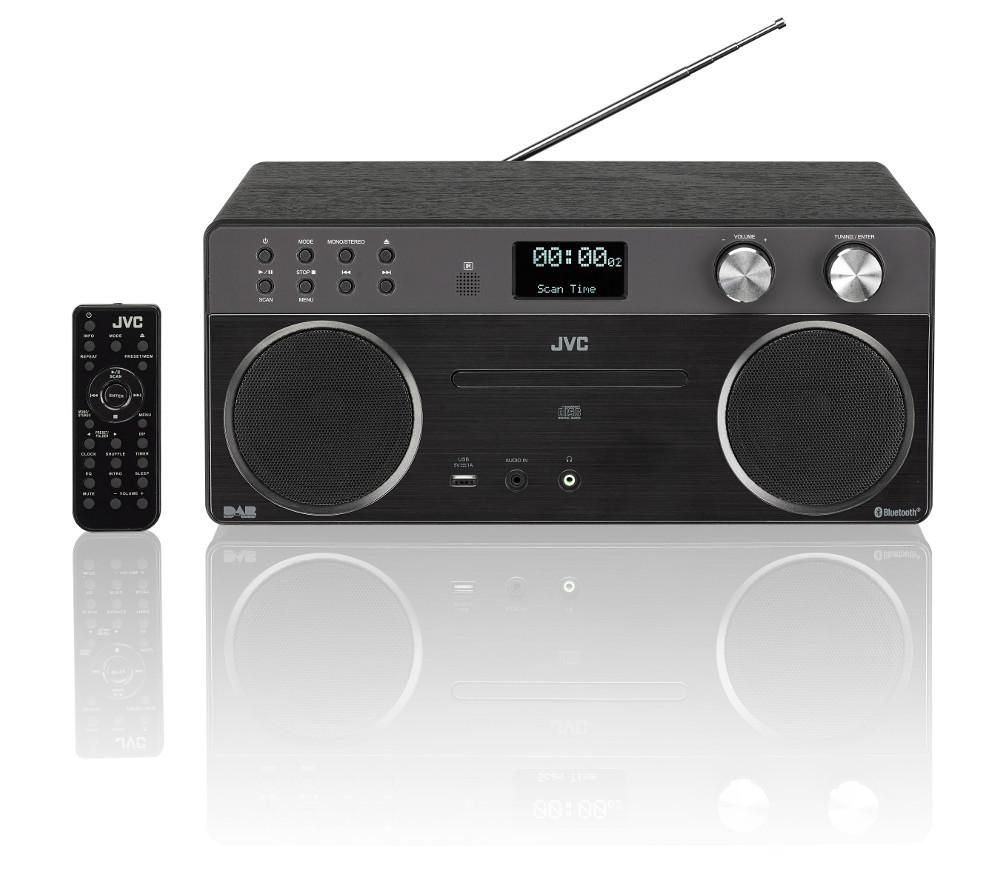 Image of JVC RD-D90 Wireless Hi-Fi System - Black, Black