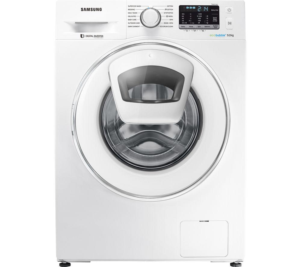 SAMSUNG AddWash WW80K5410WW/EU Washing Machine - White