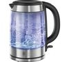 RUSSELL HOBBS 21600 Illuminating Glass Jug Kettle - Stainless Steel