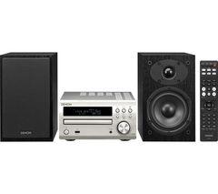 DENON DM-40DAB Traditional Hi-Fi System- Silver