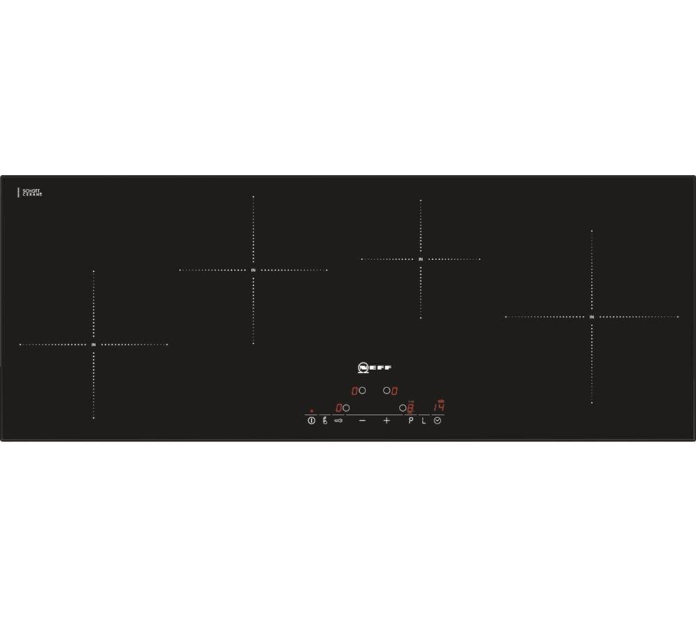buy neff t45d90x2 electric induction hob black free. Black Bedroom Furniture Sets. Home Design Ideas