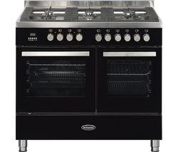 BRITANNIA Sonetto 100DF TC Dual Fuel Range Cooker - Black & Chrome