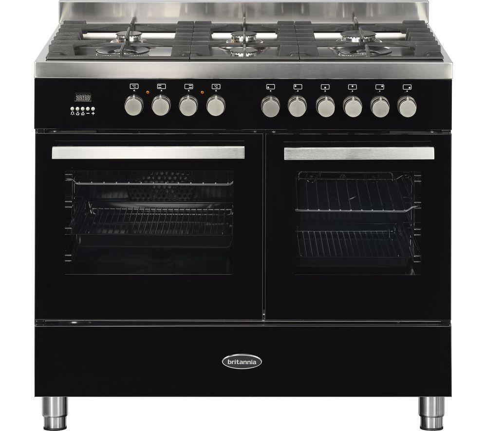 BRITANNIA Sonetto 100DF TC Dual Fuel Range Cooker - Black & Chrome