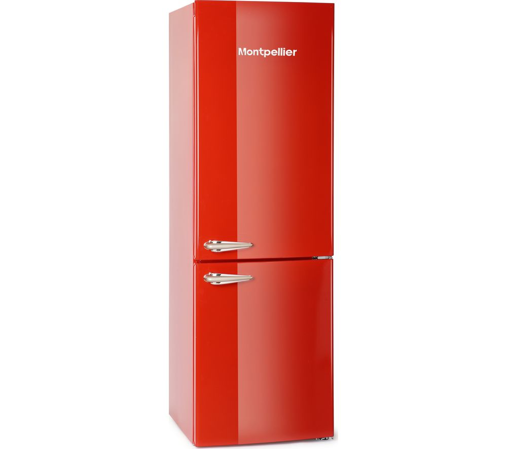 MONTPELLIER MAB365R Fridge Freezer  Red Red