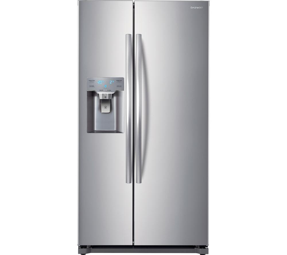 DAEWOO DRZB53NPES American-Style Fridge Freezer - Silver